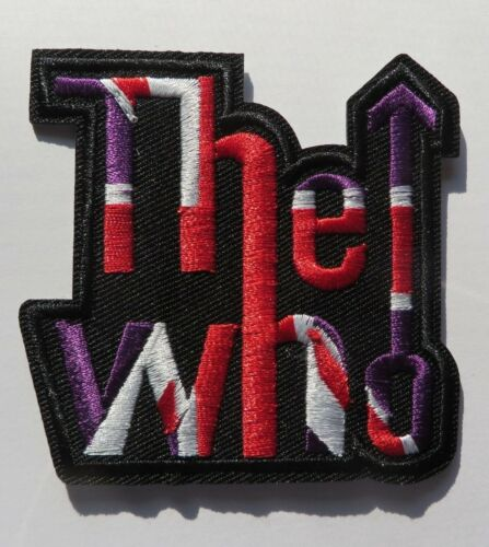 """THE WHO MUSIC BAND LOGO 3/"""" EMBROIDERED PREMIUM PATCH"""