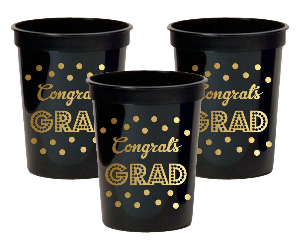 500pk Metallic or Congrats Grad Party Cups Graduation Party Decorations