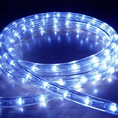 Blue Led Rope Light Outdoor Lights Chasing Static Christmas Xmas Gardens Homes Ebay