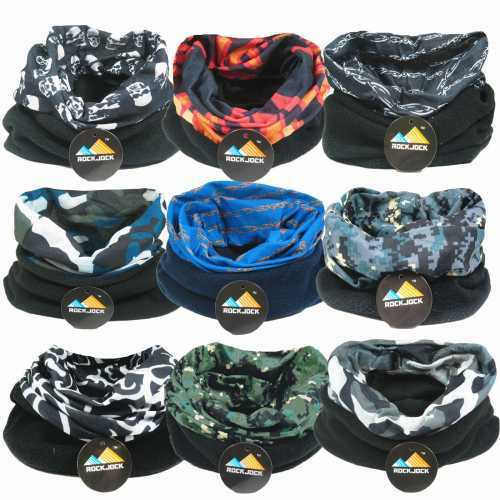 ROCKJOCK WINTER FLEECE SNOOD NECKWARMER SCARF HOOD MULTIFUNTIONAL HEADWEAR