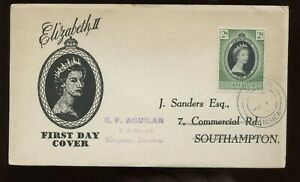 Jamaica-QE-Coronation-First-Day-Cover-1953-Kingston-Cancel