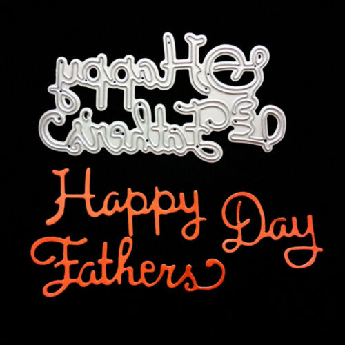 Happy Father Day Metal Cutting Dies for DIY Scrapbooking Album Cards Dec EL