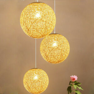 Dining room rattan ceiling light wicker ball lighting lamp image is loading dining room rattan ceiling light wicker ball lighting mozeypictures Images