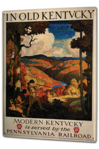 Tôle plaque xxl monde voyage Kentucky usa