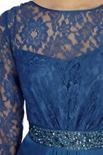 *Coast* Lori Lee Lace Sleeved Maxi Dress , Duck Egg (size Uk 8) New