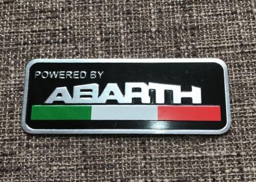 EMBLEMA LOGO ABARTH 124 595 CABRIO FIAT 500 X L LLAVE MANDO INSIGNIA ALUMINIO