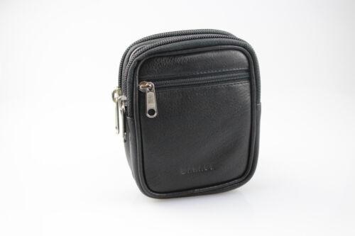 Premium Gürteltasche von Manage Germany in schwarz aus feinstem Nappa Leder