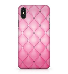 Pink-Velvet-Diamant-Cristal-Gemme-Plaque-Coussin-Colore-Telephone-Etui-Housse