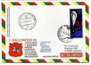 100% De Qualité 1989 Sonder Ballonpost N. 39 Bp N.1 Litauen Balloon Pro J. Aerost. Oe-kz Cameron