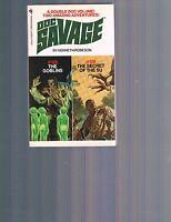 Doc Savage Bantam Double Novel Pb 125 & 126 1st Printing Bama Robeson Dent