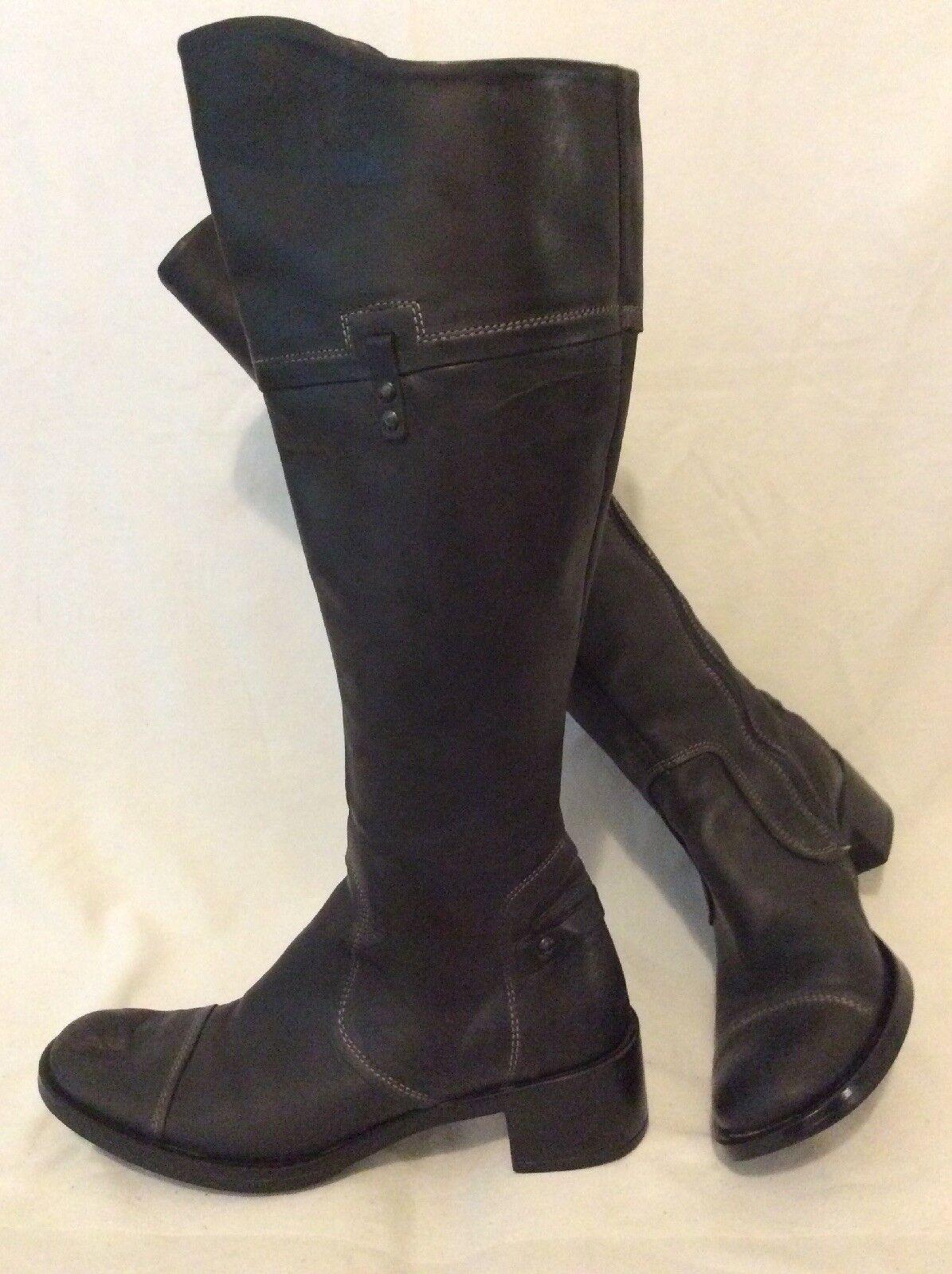 TREMP noir Hautes bottes en cuir Taille 36