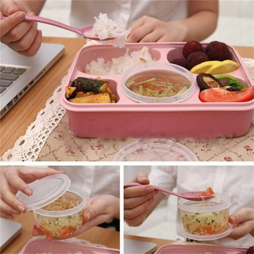 Details about  /Leak Proof Bento Container Lunch Box Picnic Food Storage Organizer O3
