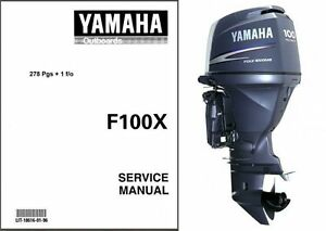 yamaha f100 outboard motor service repair manual cd f100x f 100 rh ebay com 1997 Yamaha Outboard Manual 1997 Yamaha Outboard Manual