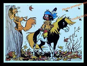 yakari et petit tonnerre poney écureuil tronc affiche chambre poster