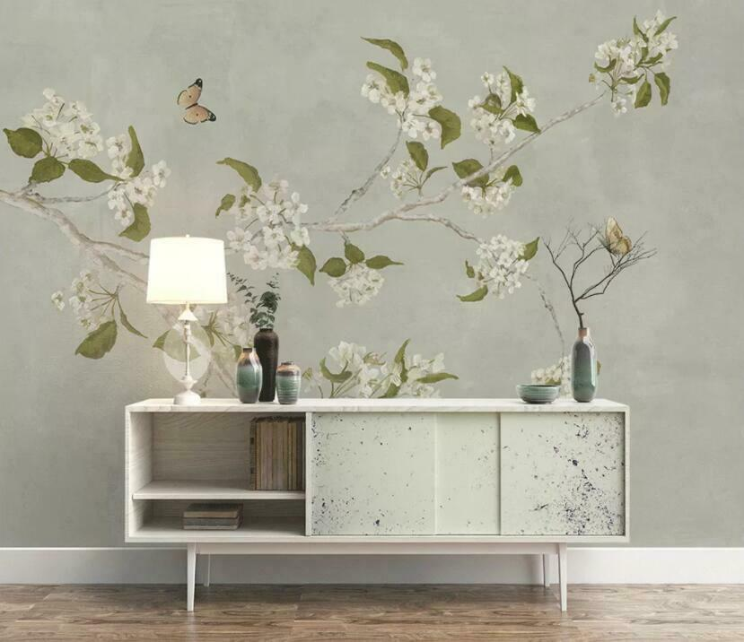 3D Plain Flowers I1524 Wallpaper Mural Sefl-adhesive Removable Sticker Wendy