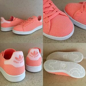 a8a9f6611405 SZ 7 ADIDAS STAN SMITH W LOW TOP TRAINERS CORAL SUN GLOW PEACH PINK ...