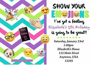 emoji birthday invitation emoji invitations birthday ebay
