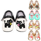 Newborn Baby Infant Toddler Boy Girl Embroidered Tassel Moccasin Leather Shoes
