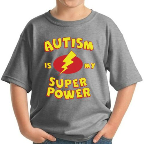 Autism Is My Super Power Kids T shirts Shirts Youth Autism Awareness