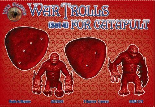 """set 4 /"""" 2 figures // 2 poses Alliance 72033 /"""" War Trolls for catapult Kit 1//72"""