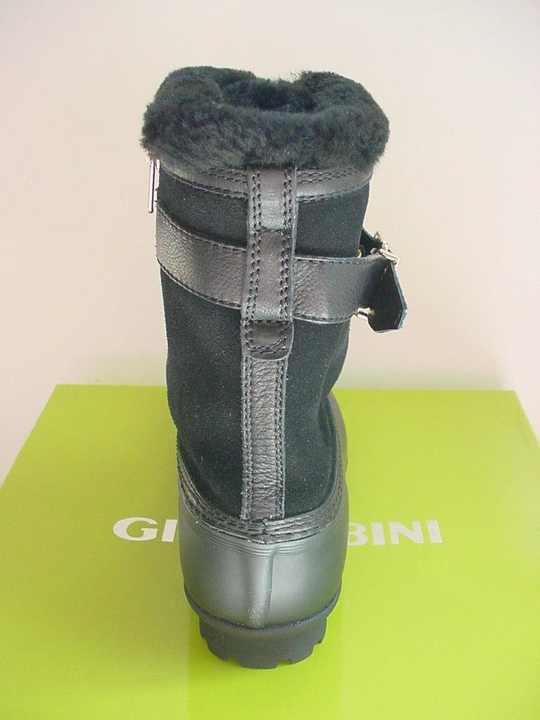 NEW NEW NEW Gianni Binni Boots Short Zipper Black Fur Rubber Snow Womens Sz 7 8  159 1623b3