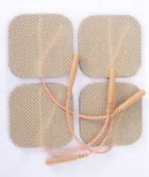 20 Replacement Pads For Massagers / Tens Units Electrode Pads 2x2inch Tan Cloth