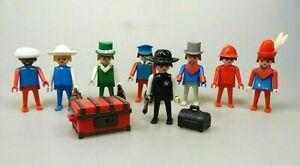 Playmobil-Klicky-Nostalgie-8-Figuren-Aristokrat-Reisende-Sheriff-Vintage