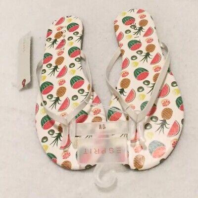 Red ESPRIT PARTY 2 FLIP FLOP Size 8.5 NEW