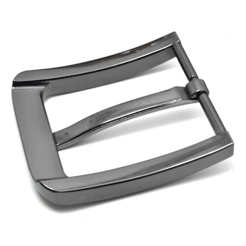Stainless Steel Fashion 40mm Men Pin Belt Buckle Leather Snap On Replacement