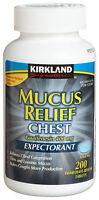 200 Kirkland Mucus Relief Chest Tablets, Guaifenesin 400mg Mucinex| No Sales Tax