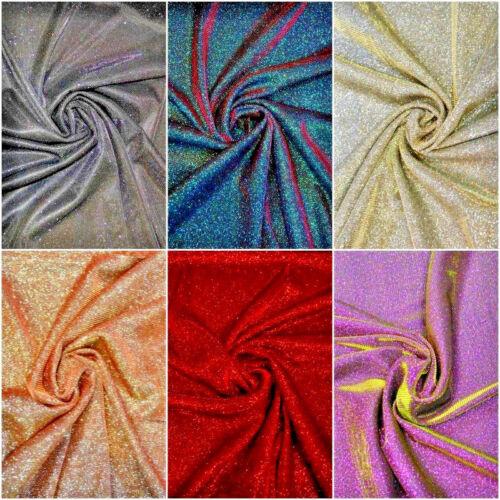 Metallic Lurex type 2 tone Knitted Jersey fabric Material 2 way stretch FREE P/&P