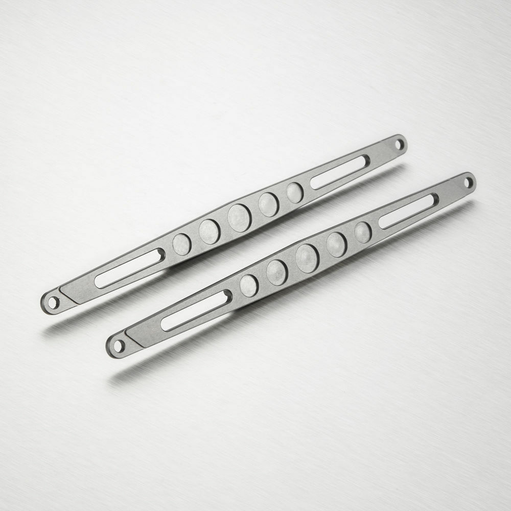 2PCS CNC CNC CNC Aluminum Rear Upper Linkage Stiffeners Set for Axial 1 8 Yeti XL fe9605