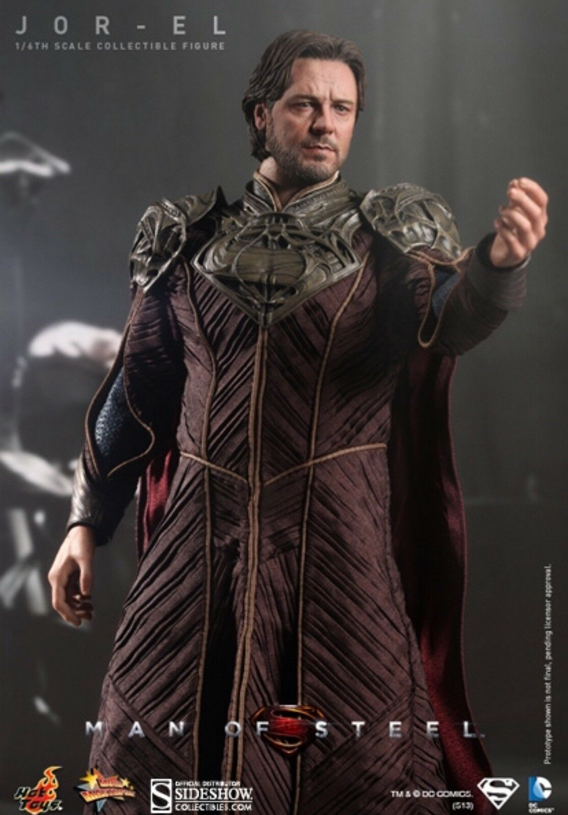 Hot Toys Man of Steel Jor-El Russell Crowe 1 6 Superman Father - BRAND NEW