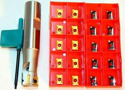Fräs-set for Steel /& Aluminum 1x Milling Cutter D16 Z=2  L150 20x Apkt