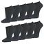Sneakersocken schwarz Baumwolle Herren1 bis 50 Paar