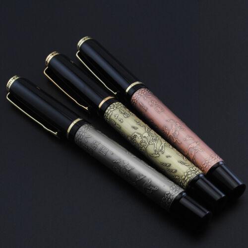 Baoer 507 Eight Horse Red Fountain Pen Fine Nib