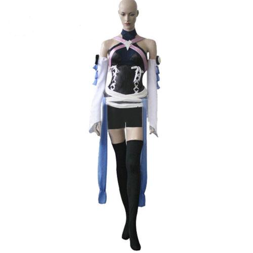 Free Shipping Kingdom Hearts Birth By Sleep Aqua Cosplay Costume Uniform   HHJ