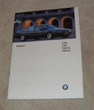 BMW 7 Series Saloon E38 Brochure 1996 728I 735I 740I 750I 740IL 750IL
