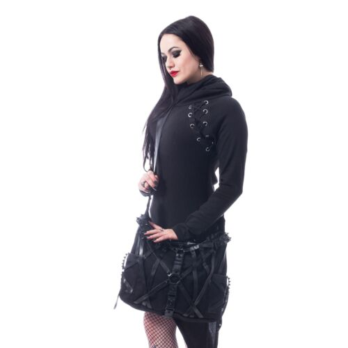 shVixxsin Harness Studded Gothic Nugoth Punk Wicca Handbag Shoulder Bag