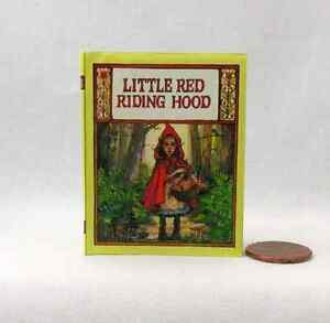 LITTLE RED RIDING HOOD Illustrated Readable Book in 1:3 Scale Miniature Book