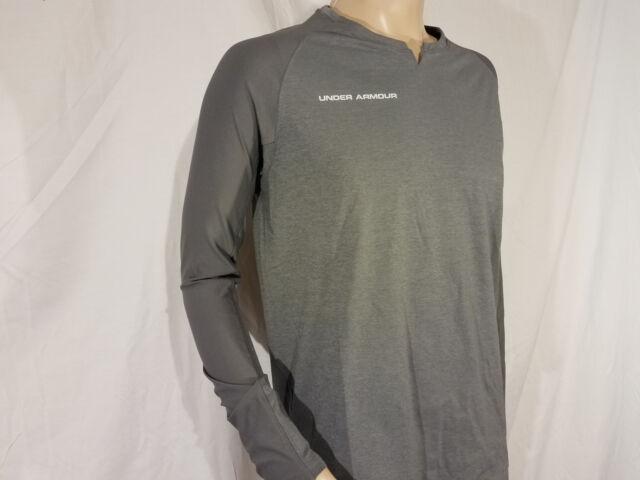Under Armour Mens XL Threadborne Longsleeve Shirt Dark Gray