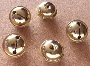 5-x-Large-34mm-Brass-Plated-Hawk-Bells-Decorative-Craft-Use