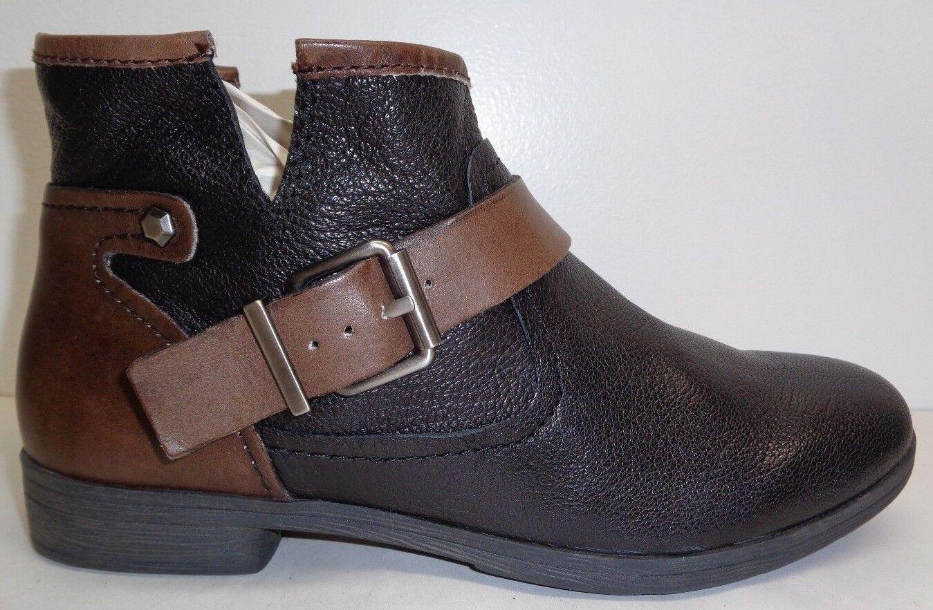 BCBG BCBGeneration Size 6.5 ROUGH Black Oak Leather Ankle Boots New Womens shoes