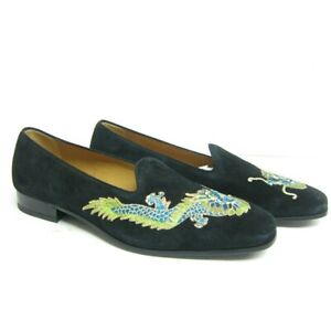 06f900562d6 P-764349 New Gucci Mens Black Queen Dragon Loafers Drivers US 10 ...