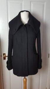 40 col Ladies viscose 60 Manteau Lovely 14 taille Monsoon laine Black ajusté grand AW0T4vU0