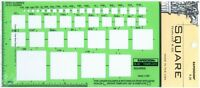 Berol Rapidesign Template - Square Up To 4 - R-30