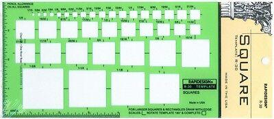 Berol Rapidesign Template R-2050 Metric Pocket Pal Circle Hex Square