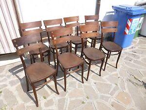 Sedie In Stile Thonet.Dettagli Su Gruppo Set Di 8 Sedie Marcate Mundus Stile Thonet Faggio Curvato Primi 900 Sane