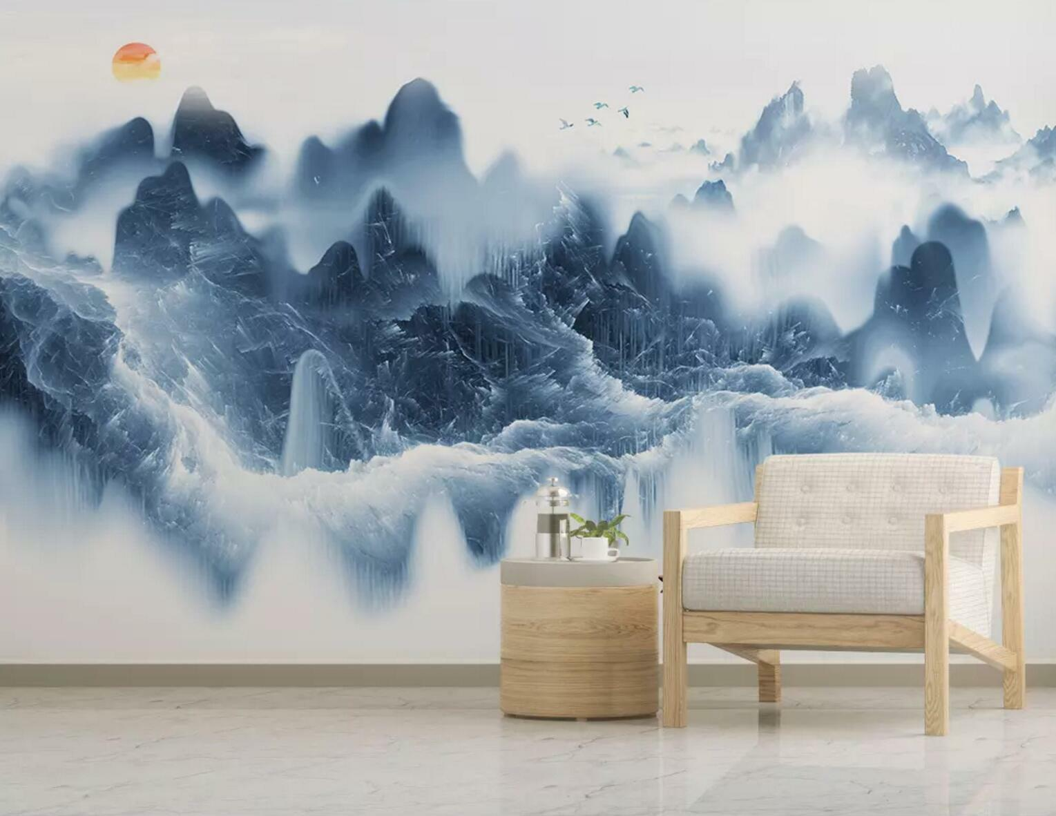 3D Mountain Scape 81 Wall Paper Exclusive MXY Wallpaper Mural Decal Indoor Wall