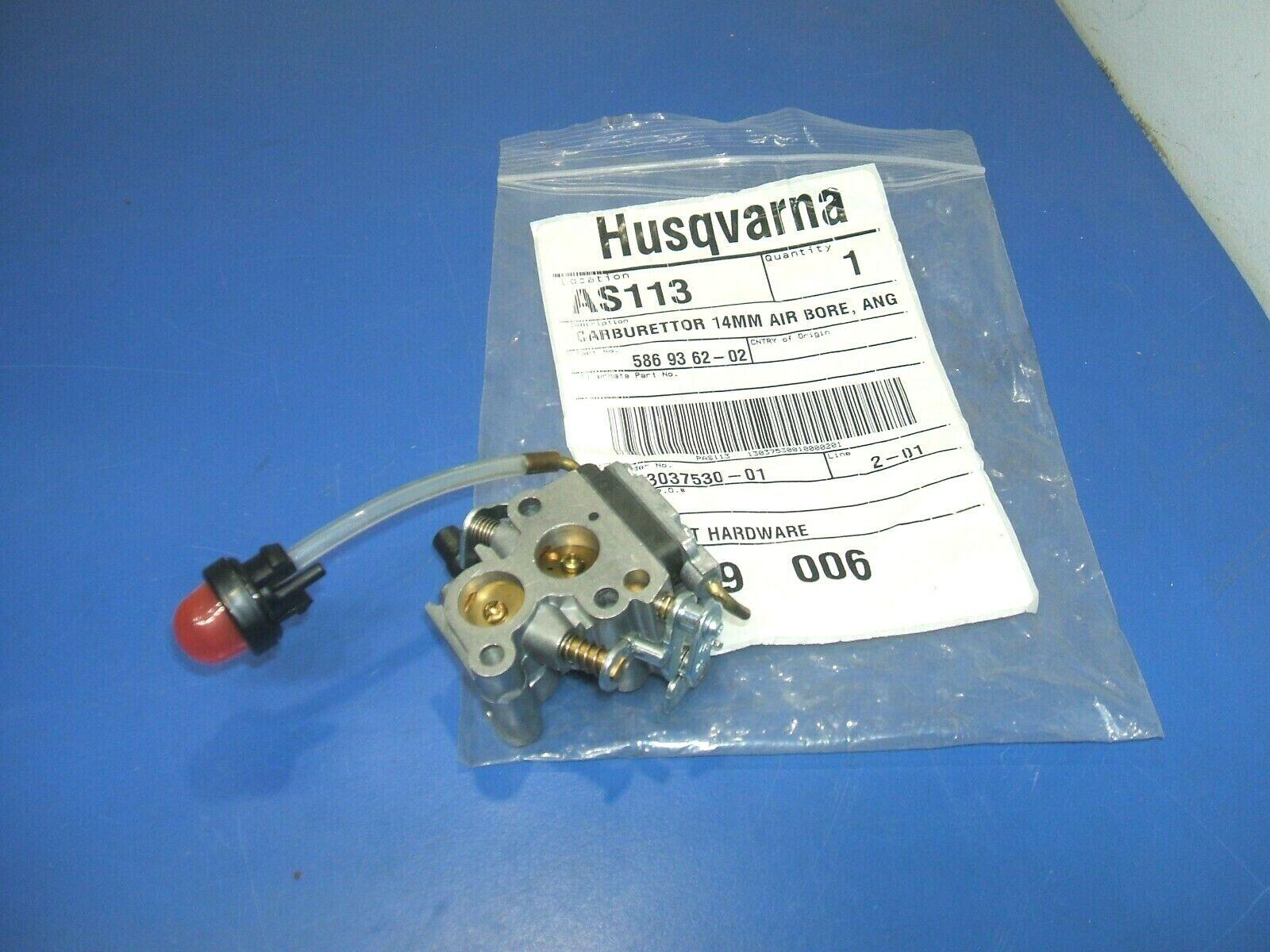 Fabricante de equipos originales Genuino Husqvarna 586 93 62-02,236 e, 236,120 MARK Cocheburador, Nuevo, Lote II de 1